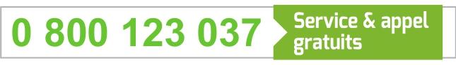 0 800 123 037 - Service et appel gratuits